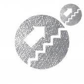 Stairs up  simple icon — Stock Vector