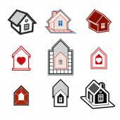 Simple cottages collection — Vecteur