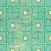 Retro  geometric seamless background — Stock Vector