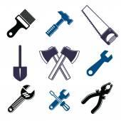 Collezione di strumenti di lavoro — Vettoriale Stock