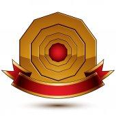 Golden ring template — Stock Vector