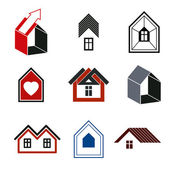 Houses abstract icons — Stockvector