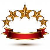 Symbolické královská zlatá — Stock vektor