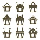 Shopping baskets icons — Stock Vector