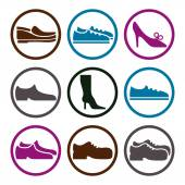 Footwear icons set — Stock Vector