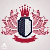 Royal stylized  graphic symbol. — Cтоковый вектор