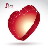 Rode liefde hart teken — Stockvector
