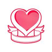 Loving heart illustration. — Stock Vector