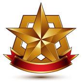 Glossy pentagonal star — Stock Vector