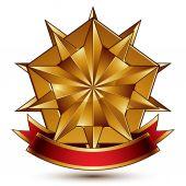 多边形颗金色的星星 — 图库矢量图片