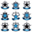 Set of silvery heraldic icons — Stock Vector #66330173
