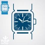 Classic wristwatch illustration — Stock Vector #66330329