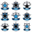 Set of silvery heraldic  icons — Stock Vector #66330697