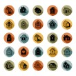 Houses abstract icons — Stock Vector #66330799
