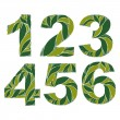Spring floral numbers — Stock Vector #66330849