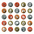 Houses abstract icons — Stock Vector #66331491