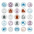 Different houses icons — Stock Vector #66332111