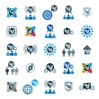 Gear system power development icons — Stock Vector #66333199