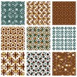 Dotted seamless patterns with rings — Stock Vector #66333849
