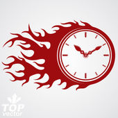 Time runs fast concept — Stock Vector
