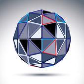 Gray urban spherical object — Stock Vector