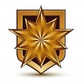 Polygonal golden star — Stock Vector