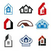 Growth trend of real estate industry — Stock Vector