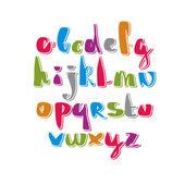 Handwritten alphabet letters set. — Stock Vector
