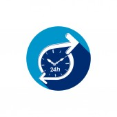 Graphic web  24 hours timer — Stock Vector