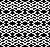 Monochrome geometric seamless pattern. — Stock Vector