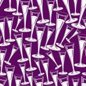 Champagne glasses seamless pattern — Stock Vector