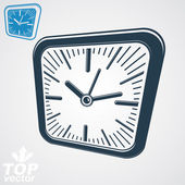 Square wall clock — Stock Vector