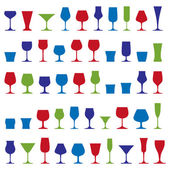 Decorative drinking glasses collection. — Stock Vector