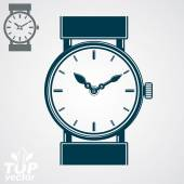 Simple wristwatch illustration — Stock Vector