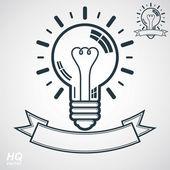 Electricity light bulb symbol — Stock Vector
