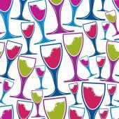 Winery theme seamless pattern — Stock Vector