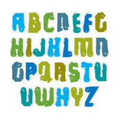 Handwritten multicolored  letters — Stock Vector