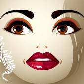 Pięknej twarzy makijaż. — Wektor stockowy