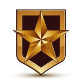 Pentagonal golden star — Stock Vector