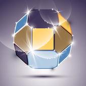 Выразительной сверкающий зеркальный шар — Cтоковый вектор