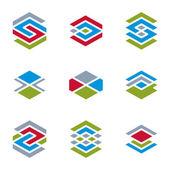 Abstract unusual symbols set — Stock Vector
