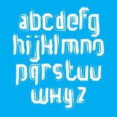 Stylish brush lowercase letters — Stock Vector