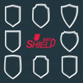 Collection of  defense shields — Stock Vector