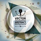 Geometric  abstract art backdrop — Stock vektor