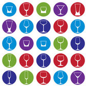 Classic goblets collection — Stock Vector