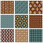 Grate seamless patterns — Vector de stock