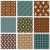 Grate seamless patterns — 图库矢量图片