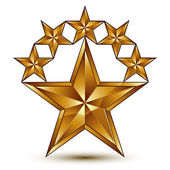 Pentagonal golden stars symbol — Stock Vector