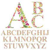 Natural alphabet letters — Stok Vektör