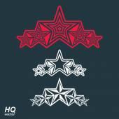 Union symbol with stars — Stock Vector